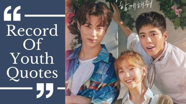 record of youth quotes