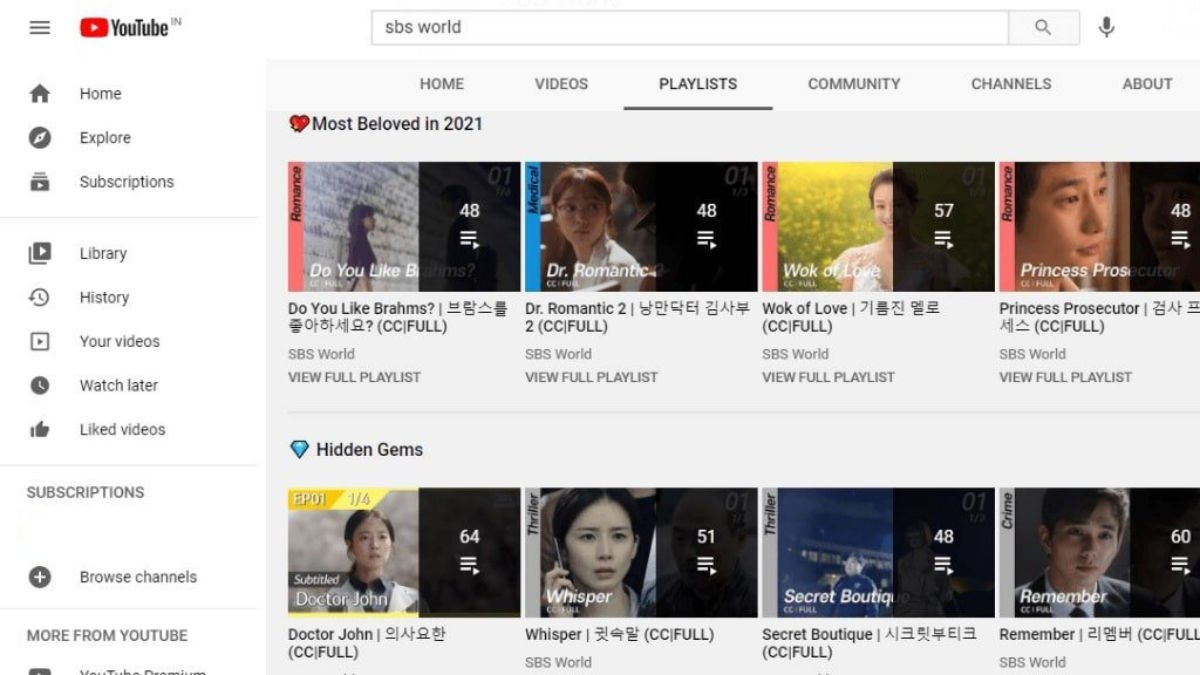 Youtube korean dramas
